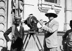H.T. Cowling  filming in Bombay, India, 1923