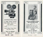Ads for Berndt camera and sound printer, 1933, 1934