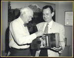 Lee Deforest and Eric Berndt with antique camera