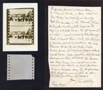 LeRoy letter with Edmund Kuhn 1895 film sample