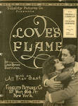 Love's Flame press book cover, 1920