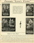 Love's Flame press book, 1920