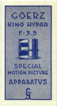 Goerz Kino Hypar F:3.5 Special Motion Picture Apparatus booklet