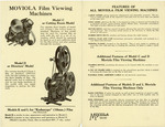 Moviola Film Viewing Machines brochure