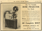 Koehler Optical Co. Home Projector advertisement