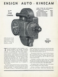 Ensign Auto-Kinecam 16mm Cine Camera Flyer