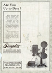Simplex Projectors Advertisement, 1913