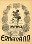 "Advertisement for ""The Imperator"" projector by Heinrich Ernemann"