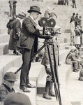 Fred Barber Filming in a Stadium