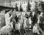 Newsreel Cameramen Filming Outdoors