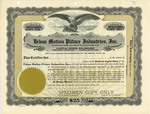 Urban Motion Pictures Industries Stock Shares Certificate