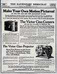 Victor Cine-Camera and Victor Cine Projector advertisement, 1923