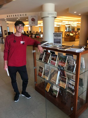 Display of books relating to The Border curated by student Hakeem Wakil ('21). On view on the first floor of the Leatherby Libraries until November 18, 2019.