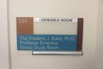 The Frederic J. Kakis, Ph.D. Professor Emeritus Group Study Room 2
