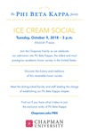Inaugural Phi Beta Kappa Ice Cream Social Invitation
