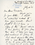 Henri Temianka Correspondence; (bridge)