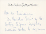 Henri Temianka Correspondence; (currier)
