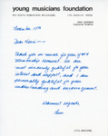 Henri Temianka Correspondence; (dunbar)