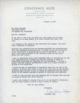 Henri Temianka Correspondence; (hope)