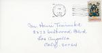 Henri Temianka Correspondence; (head)