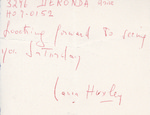 Henri Temianka Correspondence; (huxley)
