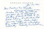 Henri Temianka Correspondence; (kalman)