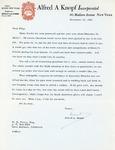 Henri Temianka Correspondence; (knopf)