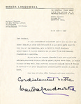 Henri Temianka Correspondence; (landowska)