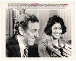 Myrlie Evers with Senator Edmund Muskie