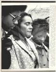 Coretta Scott King at MLK Gravesite