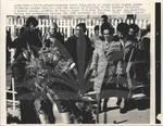 Coretta Scott King Lays Wreath at MLK Grave