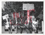 Anti-integrationists Holding Signs