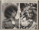 Angela Davis and Mohawk Indian Chief Moses David Protest Wounded Knee