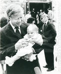 Jimmy Carter Holding Granddaughter