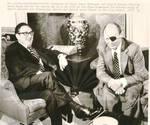 Henry Kissinger and Israeli Defense Minister Moshe Dayan