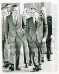 Henry Kissinger and President Nixon Walking