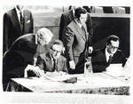 Henry Kissinger Signing Declaration of Intent on the Negotiation of a New Panama Canal Treaty