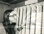 Helen Kommel Looks at Voting Machine