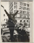 Nixon Waves to the Crowd