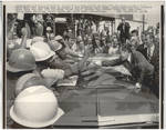 President Nixon Shakes Hands with Workers