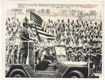 President Nixon Inspects Troops