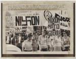 Anti-Nixon Protest in Rome