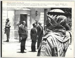 Jordanian Soldier Salutes President Nixon