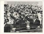 Nixon & Anwar Sadat in Motorcade