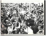 Nixon Waves to Crowd in Red Square