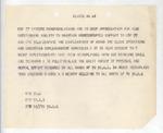 Walter Edward Smith Correspondence #1