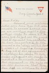 Wesley F. Diedrich First World War Correspondence #25 by Wesley F. Diedrich