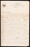Wesley F. Diedrich First World War Correspondence #34