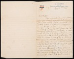 Wesley F. Diedrich First World War Correspondence #37