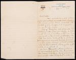 Wesley F. Diedrich First World War Correspondence #37